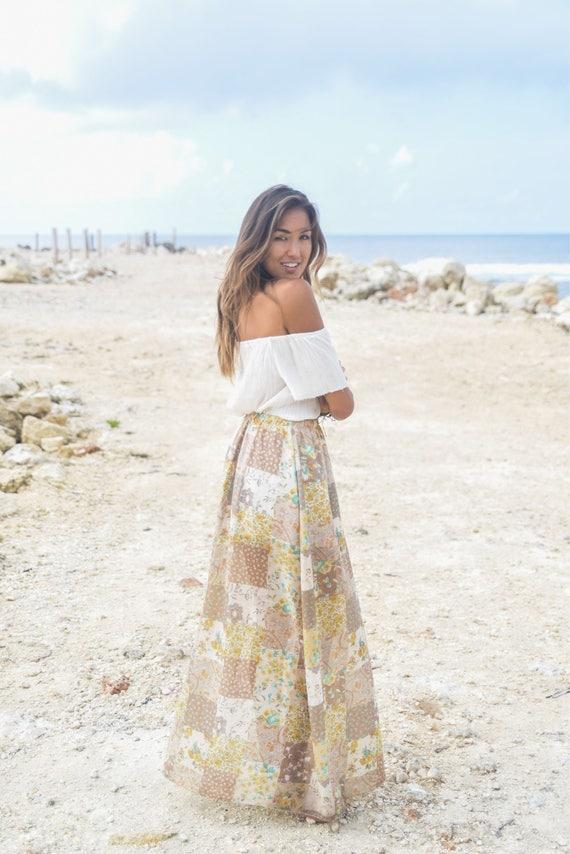 Patchwork Lover Maxi Skirt