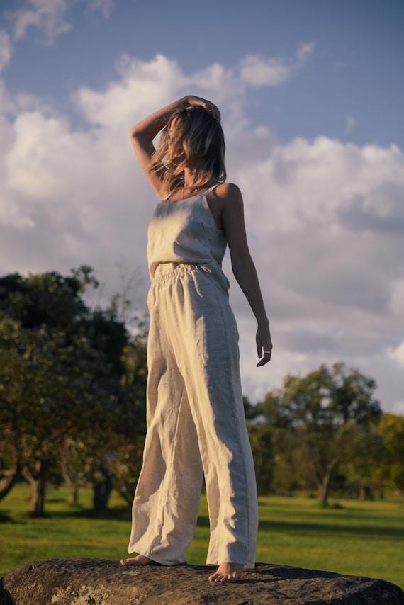 Linen Queen Jumpsuit set, Eco Linen Pant suit