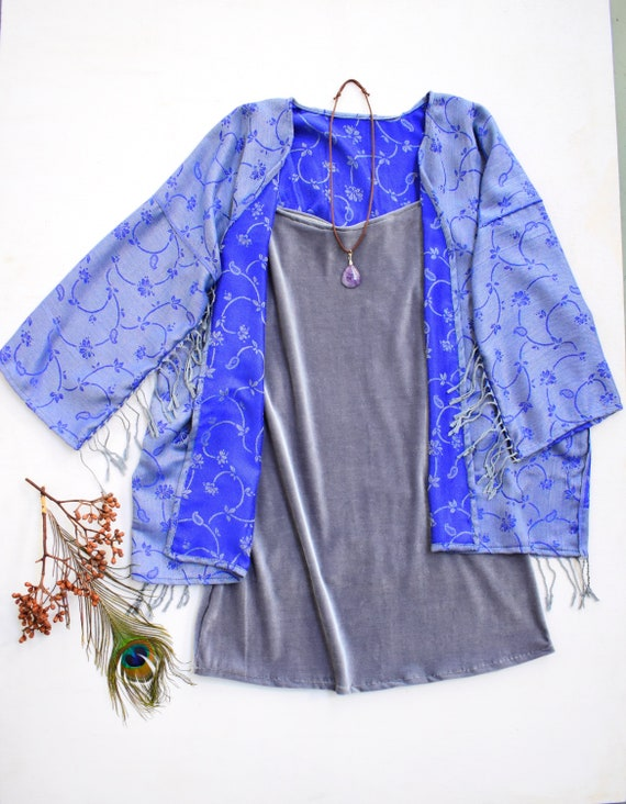 Pachamama Paisley reversible Duster, Gypsy Beach Kimono jacket