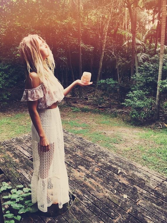 Angel Lace tier Maxi Skirt, Bohemian Gypsy festival