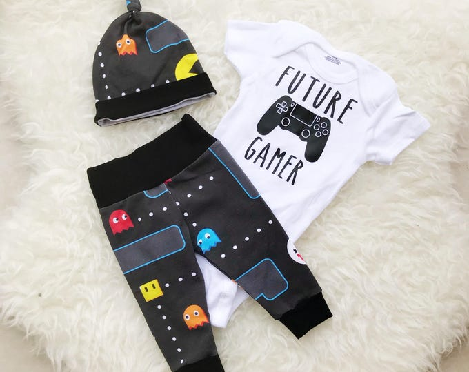Featured listing image: Future Gamer, Player 3 Has Entered The Game, Future Gamer Onesie, Newborn Boy Coming Home Outfit, Coming Home Outfit Baby Boy