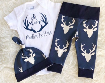 Oh Deer I'm Here, Oh Deer ONESIE®, Going Home Outfit Boy, Newborn Boy Coming Home Outfit, Oh Deer Going Home Outfit, Oh Deer Outfit