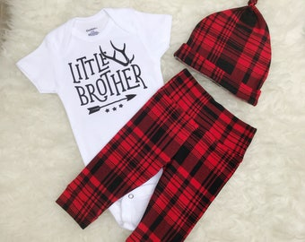 Buffalo Plaid Little Brother Set