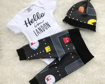 Pac-Man 'Hello' Personalized Set