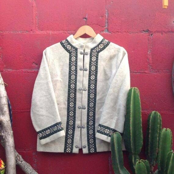 Vintage Nordic Scandinavian wool jacket, FIRDA 100