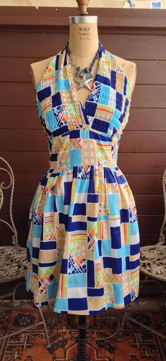 1960's PAWTUCKET Sportswear Halter Dress