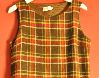 Vintage  90s dress checkered  Dress S