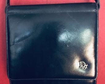 Vintage 80s Dior handbag Navy Blue cb8c66b018088