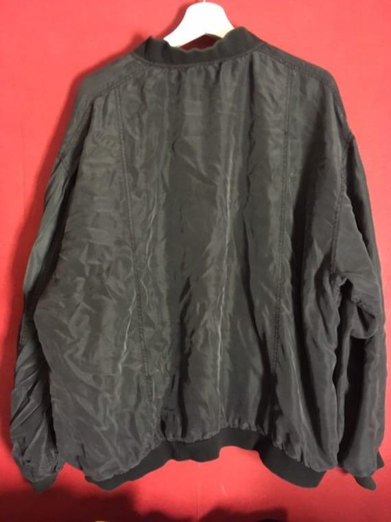 80s 90s Silk red Bomber  Silk men s Jacket Size L… - image 6