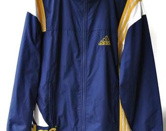 vintage Windbreaker Adidas Blue yellow Size US S  CH4 D4 F168