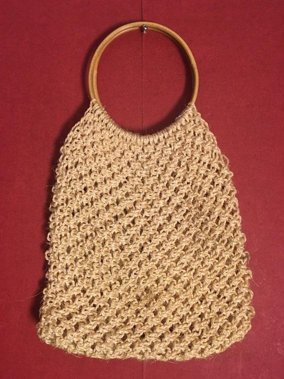 MACRAME BAG beige & 1970s vintage bag/ Macrame Bag