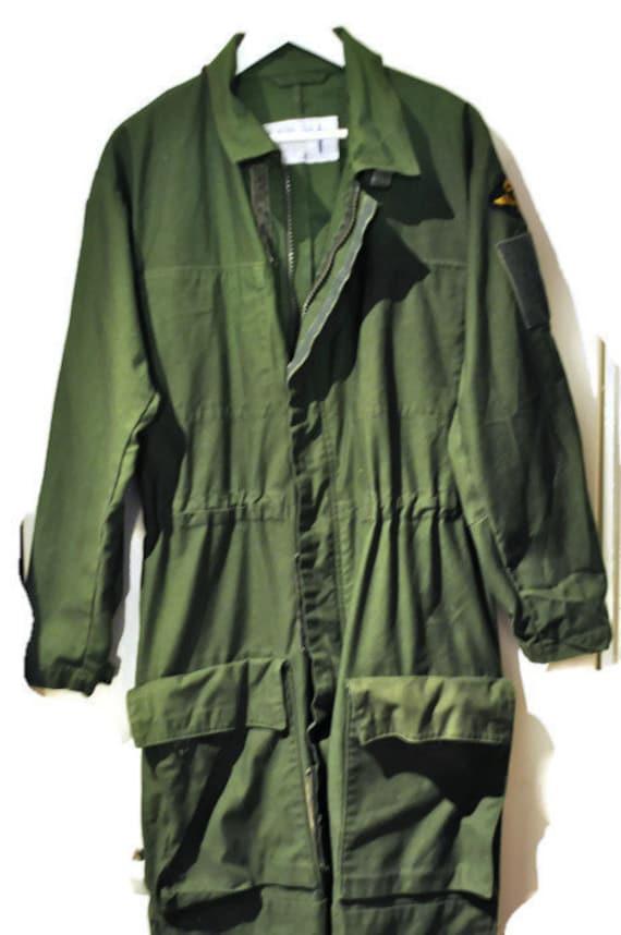 ViNtAgE 80s Army flight suit military boiler suit