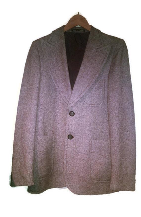 Vintage 70s jacket Tweed Mens  VINTAGE 70s JACKET