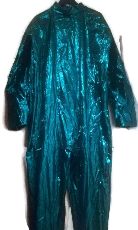 Space suit metallic smaragd green Size M L