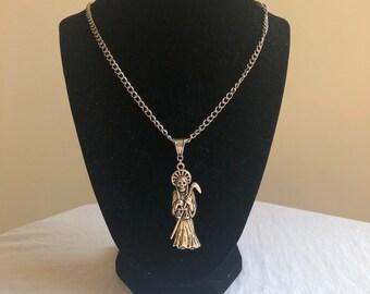 37034941d Grim Reaper Necklace.