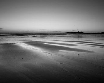 Dawn at Embleton Bay and Dunstanburgh Castle, Northumberland