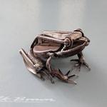 Frog Sculpture , Recycled Metal Art, A Bespoke Piece of Animal Art, Scrap Metal Artwork, Metal Frog
