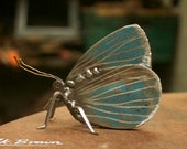 Holly Blue Butterfly Sculpture - Scrap Metal Sculpture, Unique Art Work,  Metal Art, Metal Butterfly