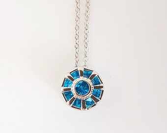 first arc reactor necklace from tony stark industries made of sterling silver