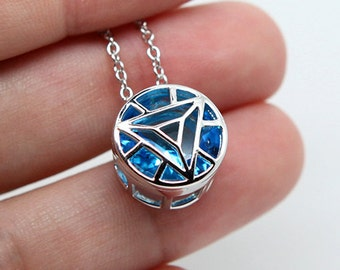 Arc reactor IRON MAN sterling silver necklace