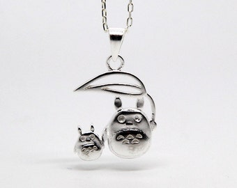 My neighbor totoro necklace made with sterling silver