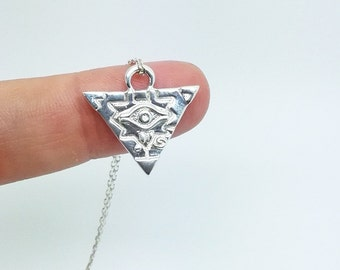 Yugioh millenium puzzle yugi necklace made of sterling silver