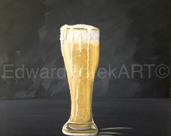 Weizen Glass oil painting