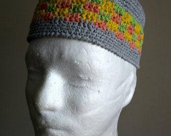 Skull Cap Cotton Kubanka Tubeteika - Mens short beanie b6d70dfdfb3d