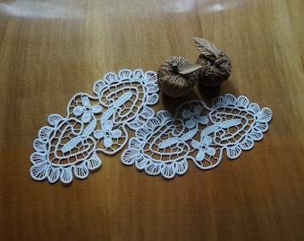 21e09ec78e49 Foulards de commode blanche roumain Point dentelle, vignes biologiques et  fleurs, fait main en coton crochet napperon, décor en macramé, ...