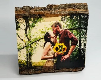 5 Year Anniversary, 5th Anniversary Gift, Photo on Wood, Wedding Anniversary, Personalized Sign, Custom Wood Gift, Your Picture on Wood