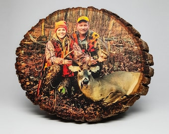 Hunting Decor, Your Hunting Picture on Wood, Custom Wood Photo Transfer, Outdoor Pictures, Hunting Gifts, Deer Pictures, Cabin Decor, Rustic