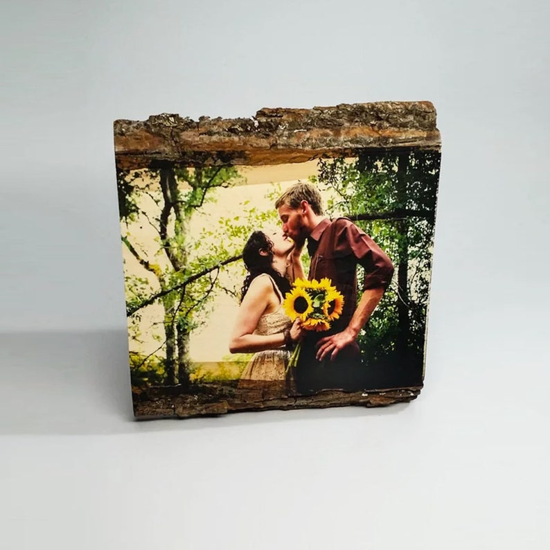 Personalized Couple Housewarming Gift Anniversary Gift Wood Without Stand