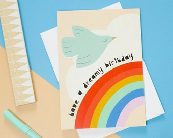 Dreamy Rainbow Happy Birthday Card
