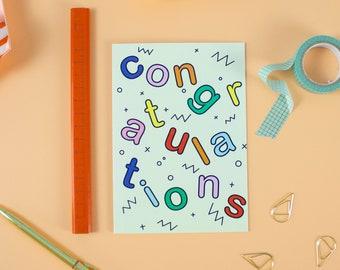 Colourful Modern Congratulations Card