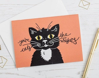 Funny Cat Anniversary Card, Father's Day Card