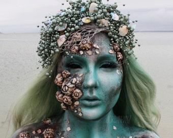Mermaid crown, mermaid headpiece, headdress, mermaid costume, cosplay, costume accessories