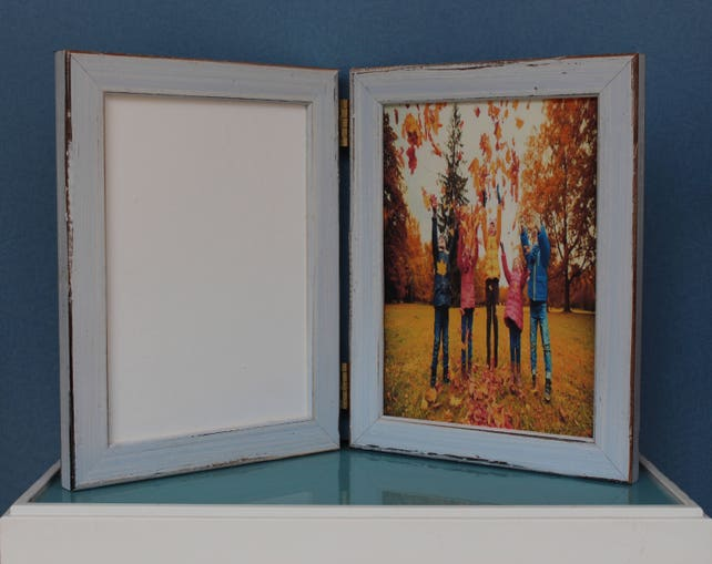 rustic distressed double hinged frames triple hinged frame etsy