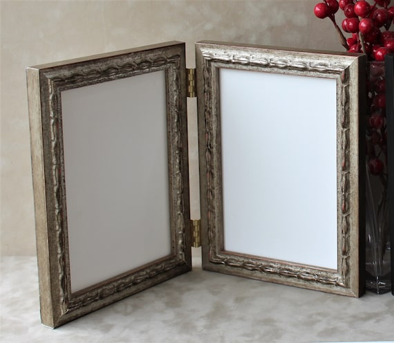 Ornate Antique Double Hinged Frame Triple Hinged Frame Etsy