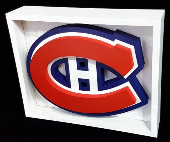 cheap for discount d64e3 695ba Montreal Canadians Habs Hockey Logo Picture Custom Frame 3D Art Sports Gift  For Montreal Canadian Fan