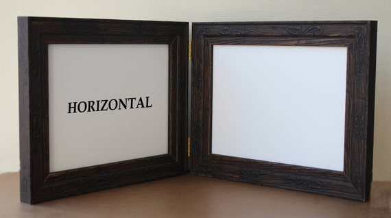 double hinged frames distressed barn wood rustic etsy