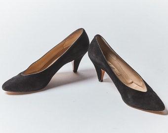 1eed5866f87 Italian Suede Black High Heel Pump by Amalfi - Size  8.5   9