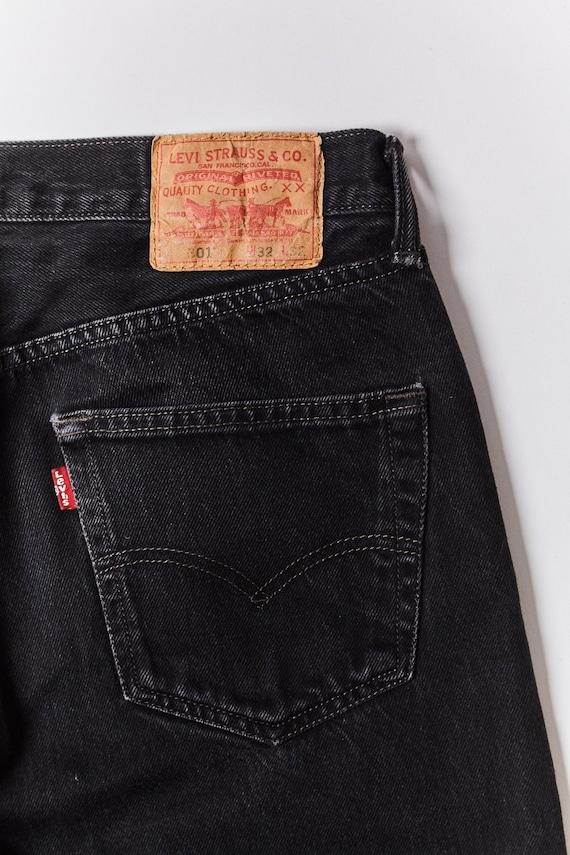 Black Levi's 501 Vintage Jeans - Size: 32 x 32