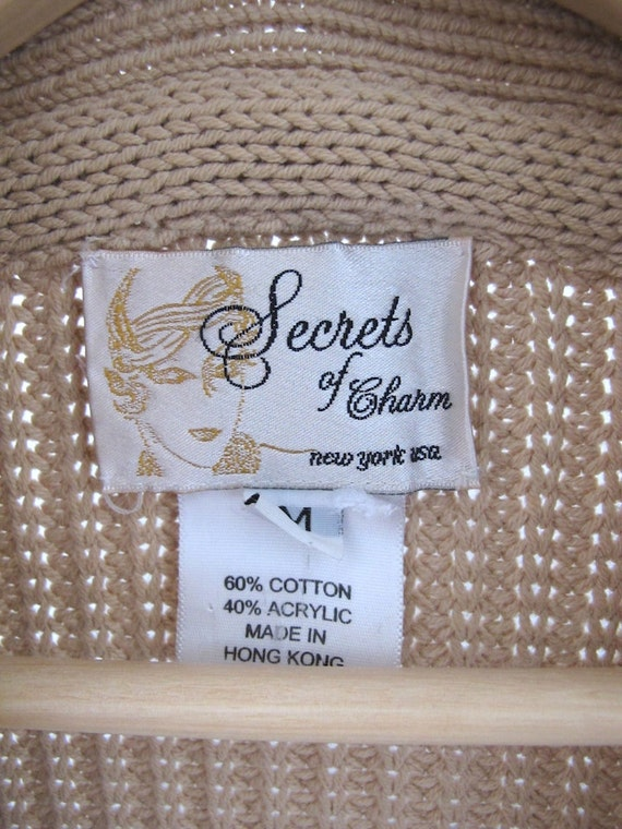 Cotton Shawl Collar Cowgirl Cardigan - Size S/M - image 5