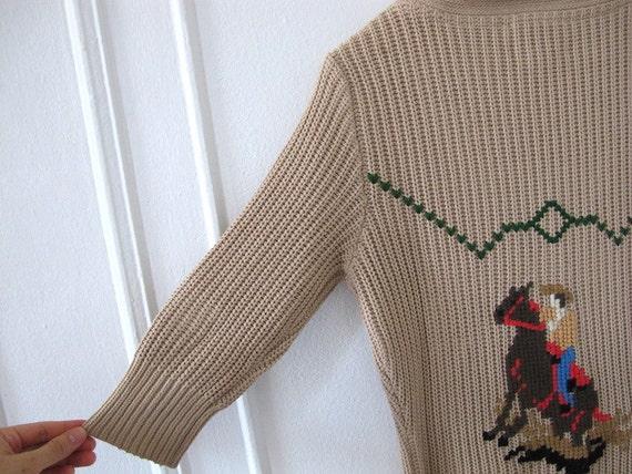 Cotton Shawl Collar Cowgirl Cardigan - Size S/M - image 4