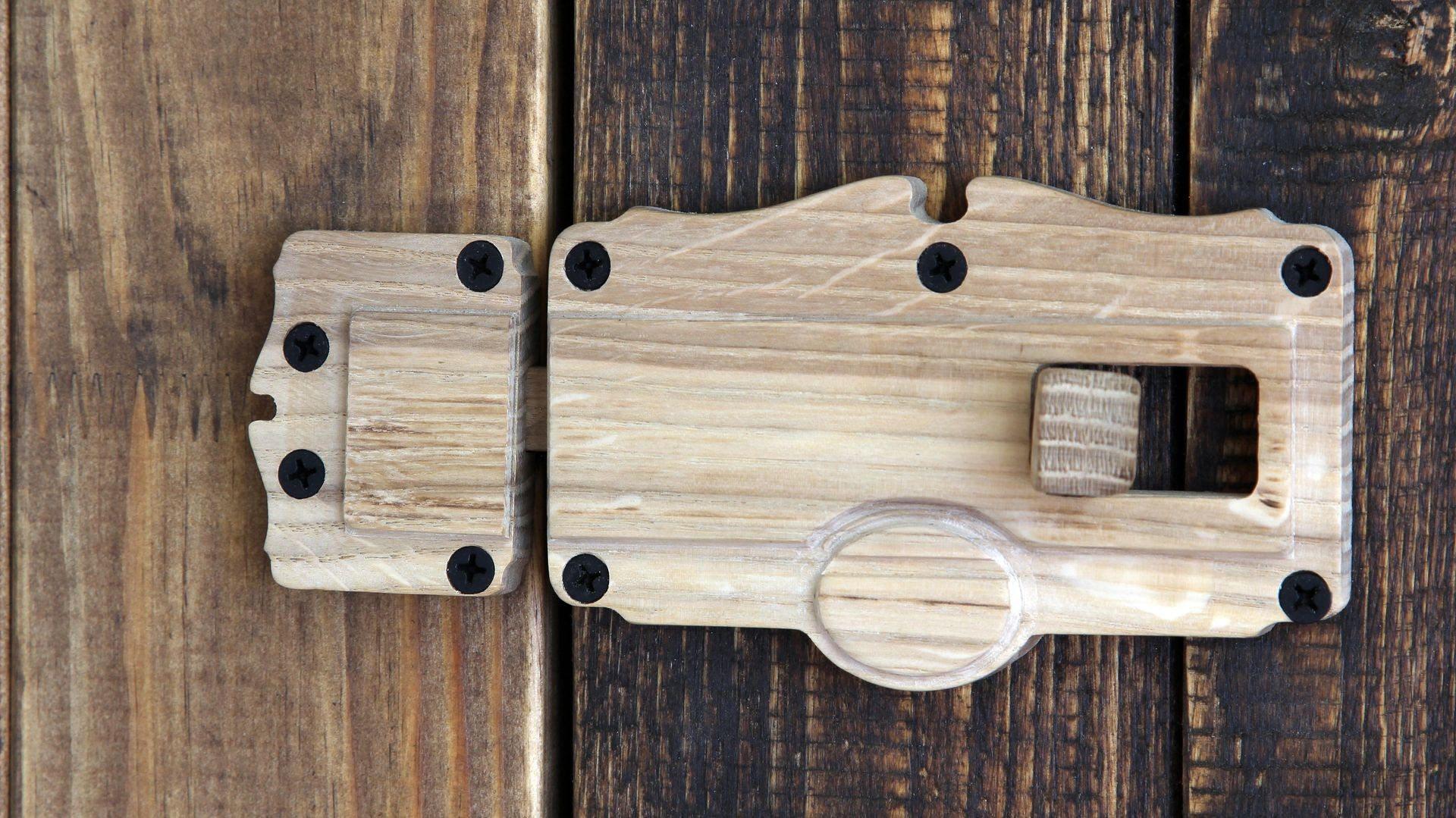 Eiche Holz Türverriegelung Bolzen | Etsy