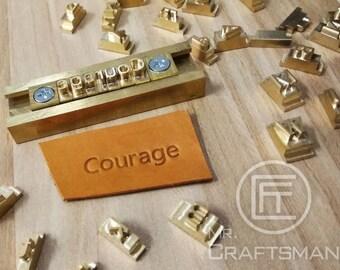 FREE SHIPPING Pre Order Item Brass Alphabet Stamps Set T Slot