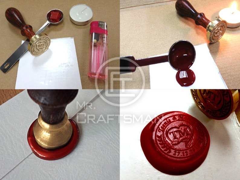 stamp wax Gold lucky star Sealing wax