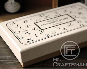 Uppercase 36 PCS DIY rubber letter stamps set ,vintage alphabet stamp set, Schoolbook styles in Box