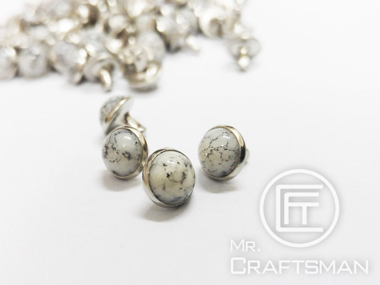 8mm pierre de turquie de couleur blanc perle champignon. Black Bedroom Furniture Sets. Home Design Ideas