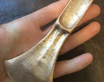 Large Bronze Age axe head replica. Life size.